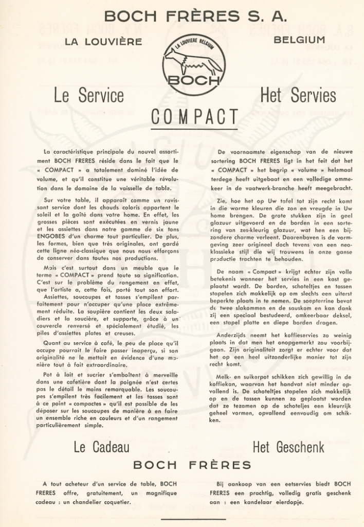1962 {Compact} - World of Boch Fréres & Boch Keralux - Website voor verzamelaars