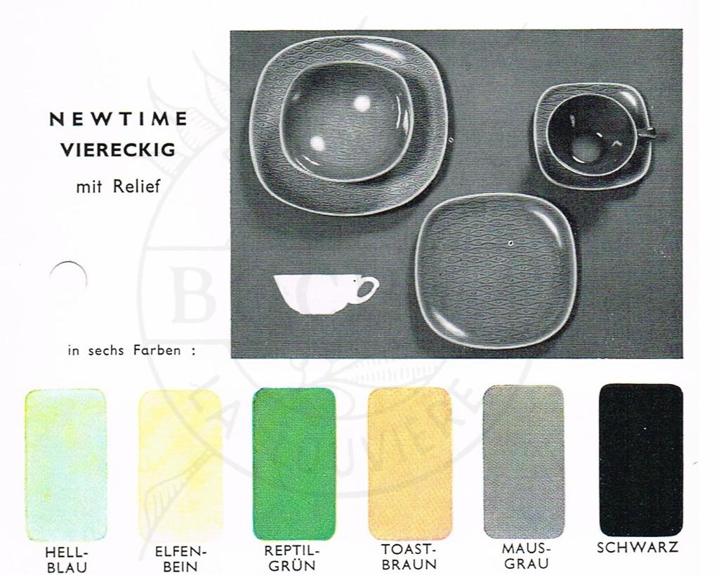 1955 {Newtime} *Relief Carré* - World of Boch Fréres & Boch Keralux - Website voor verzamelaars